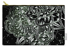 Black Flower Carry-all Pouch