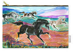 Black Pony Carry-all Pouch by Mary Armstrong