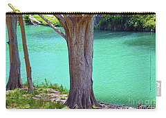 Blanco River Texas Carry-all Pouch by Ray Shrewsberry