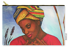 Carry-all Pouch featuring the painting Blessed by Alga Washington