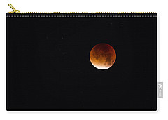 Blood Moon Super Moon 2015 Carry-all Pouch by Clare Bambers