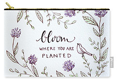 Bloom Carry-all Pouch by Elizabeth Robinette Tyndall