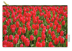 Carry-all Pouch featuring the photograph Blooming Red Tulips by Hans Engbers