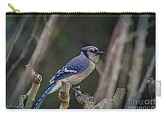 Blue Bird Of Happiness Carry-all Pouch