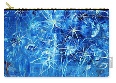 Blue Design Carry-all Pouch by Evelina Popilian