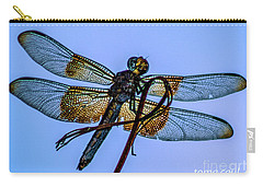 Blue Dragonfly Carry-all Pouch by Toma Caul