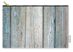 Carry-all Pouch featuring the photograph Blue Fading Paint On Wood by John Williams