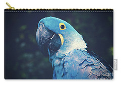 Blue Hyacinth Macaw Carry-all Pouch by Sharon Mau