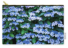 Miksang 12 Blue Hydrangea Carry-all Pouch by Theresa Tahara