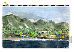Carry-all Pouch featuring the painting Blue Lagoon Bali Indonesia by Melly Terpening