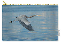 Blue On Blue Carry-all Pouch by Fraida Gutovich