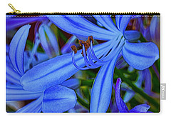 Blue Velvet Carry-all Pouch