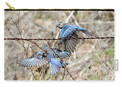 Bluebird Battle Carry-all Pouch by Mike Dawson