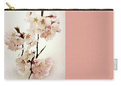 Carry-all Pouch featuring the photograph Blushing Blossom by Jessica Jenney
