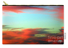 Carry-all Pouch featuring the photograph Blushed Sky by Linda Hollis