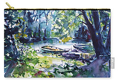 Carry-all Pouch featuring the painting Boat by Kovacs Anna Brigitta