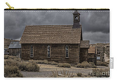 Carry-all Pouch featuring the photograph Stormy Day In Bodie State Historic Park by Sandra Bronstein