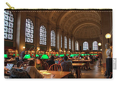 Carry-all Pouch featuring the photograph Boston Public Library by Joann Vitali
