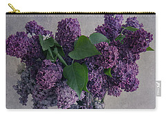 Carry-all Pouch featuring the photograph Bouquet Of Fresh Lilacs by Jaroslaw Blaminsky