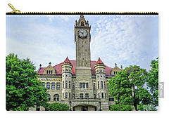 Carry-all Pouch featuring the photograph Bowling Green Court House by Mary Timman