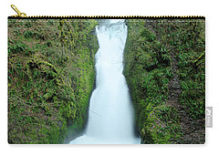 Carry-all Pouch featuring the photograph Bridal Veil Falls by Jeff Swan