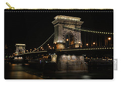 Budapest At Night. Carry-all Pouch by Jaroslaw Blaminsky