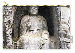 Buddha Carving Carry-all Pouch by Marti Green