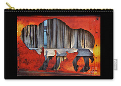 Wooden Buffalo 1 Carry-all Pouch by Larry Campbell