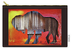 Carry-all Pouch featuring the photograph Wooden Buffalo 2 by Larry Campbell