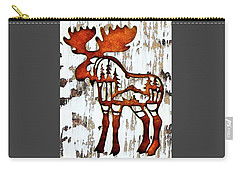 Carry-all Pouch featuring the photograph Bull Moose by Larry Campbell