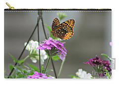 Carry-all Pouch featuring the photograph Butterflies Are Free by Barbara S Nickerson
