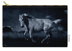 By The Light Of The Silvery Moon Carry-all Pouch by Karen Slagle