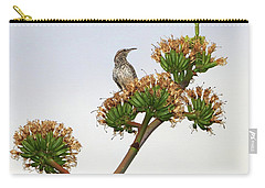 Cactus Wren Carry-all Pouch by Elaine Malott