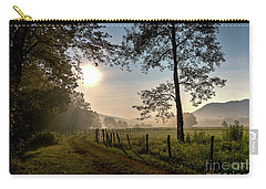 Carry-all Pouch featuring the photograph Cades Cove Sunrise by Douglas Stucky