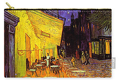 Carry-all Pouch featuring the painting Cafe Terrace At Night by Van Gogh