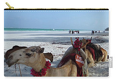 Camel On Beach Kenya Wedding Carry-all Pouch