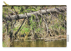 Carry-all Pouch featuring the photograph Canada Geese by Jim Sauchyn