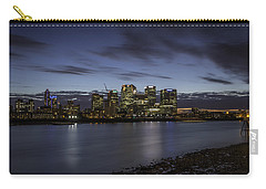 Carry-all Pouch featuring the photograph Canary Wharf by Ryan Photography