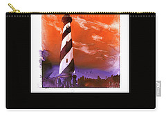 Carry-all Pouch featuring the painting Cape Hatteras Lighthouse by Ryan Fox
