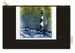 Carry-all Pouch featuring the mixed media Cape Lookout Lighthouse by Ryan Fox