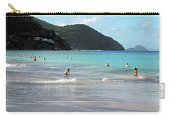 Carry-all Pouch featuring the photograph Caribbean Beach Scenic by Rosalie Scanlon