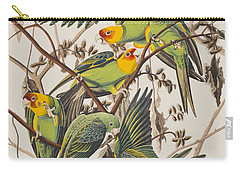 Carolina Parrot Carry-all Pouch by John James Audubon