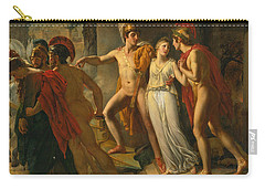 Castor And Pollux Rescuing Helen Carry-all Pouch by Jean-Bruno Gassies