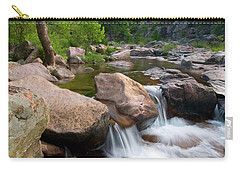 Carry-all Pouch featuring the photograph Castor River Shut-ins by Steve Stuller