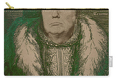 Celebrity Etchings - Donald Trump Carry-all Pouch by Serge Averbukh