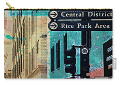 Carry-all Pouch featuring the photograph Central District by Susan Stone