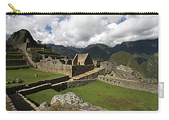 Central Plaza At Machu Picchu Carry-all Pouch by Aidan Moran