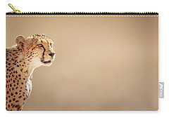 Cheetah Portrait Carry-all Pouch by Johan Swanepoel