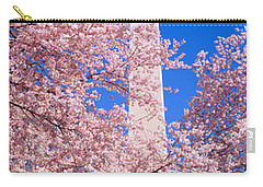 Cherry Blossoms And Washington Carry-all Pouch by Panoramic Images
