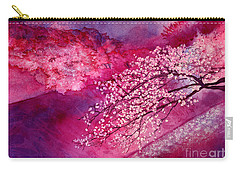 Carry-all Pouch featuring the painting Cherry Blossoms by Hailey E Herrera